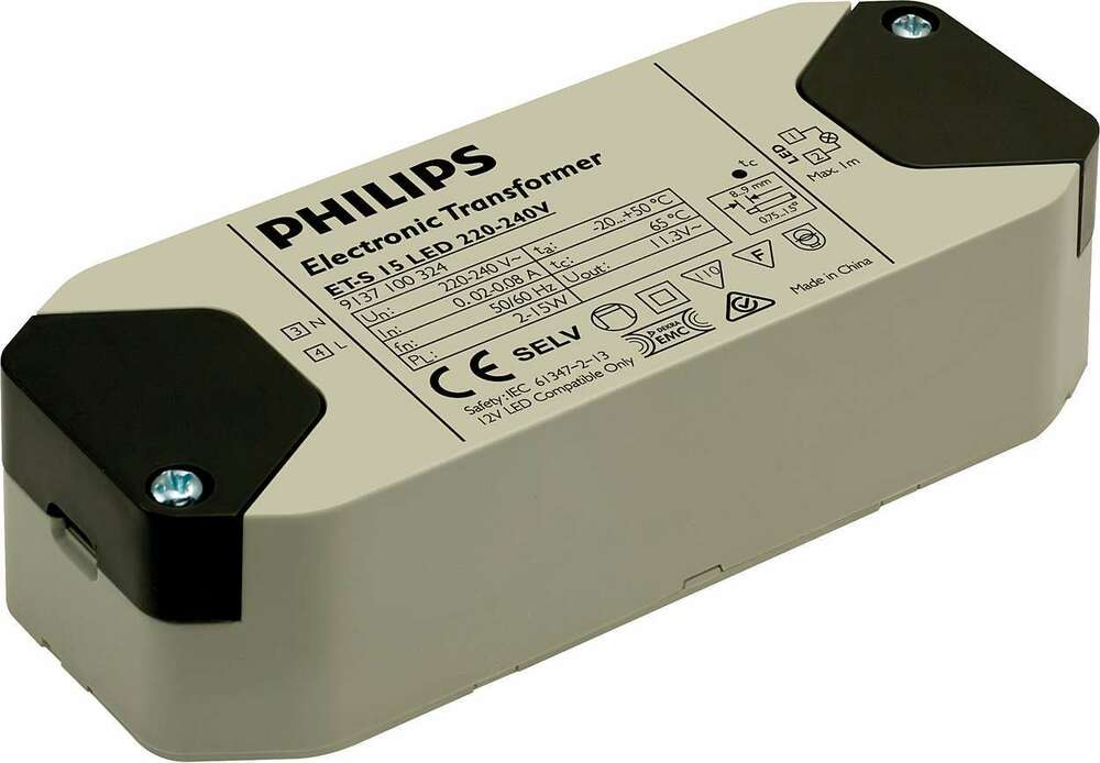 Philips Dimmable Led Transformer Mr16 Compatible Et S 15w
