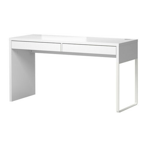 Ikea micke desk with 2 drawers computer workstation table white modern new ebay - Micke computer workstation ...