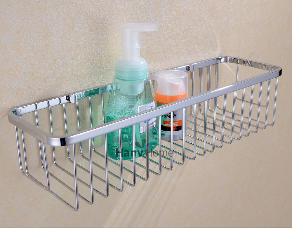Bathroom Accessories Stainless Steel Shower Wire Wall Basket Storage Shelves Ebay