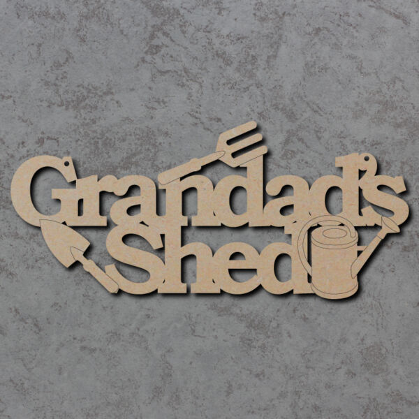 Latex Mould for making This Grandads Shed Plaque//sign