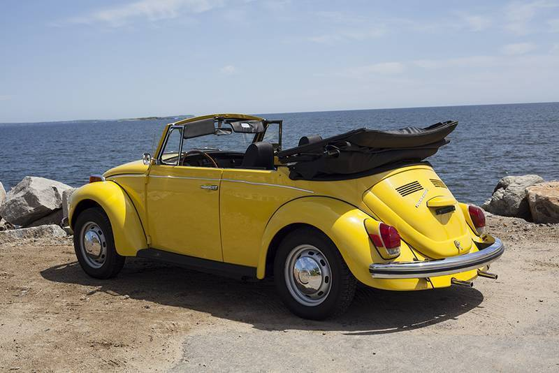 1971 volkswagen beetle convertible vw cabriolet yellow. Black Bedroom Furniture Sets. Home Design Ideas