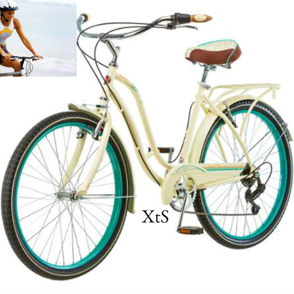 Women Road Bike Beach Cruiser Shimano Retro Bicycle