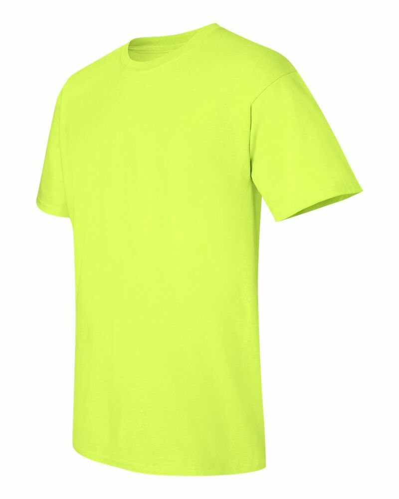 6 Wholesale Gildan Heavy Cotton Safety Green Adult T ...
