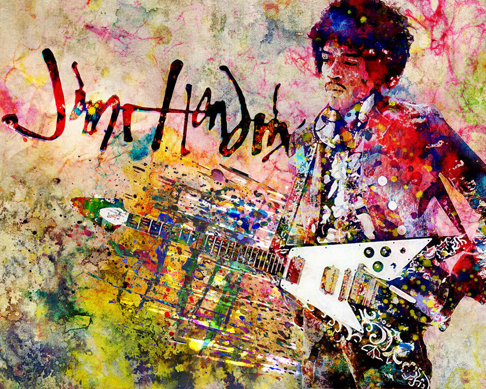 Jimi Hendrix Art Hendrix Canvas Painting Jimi Artwork