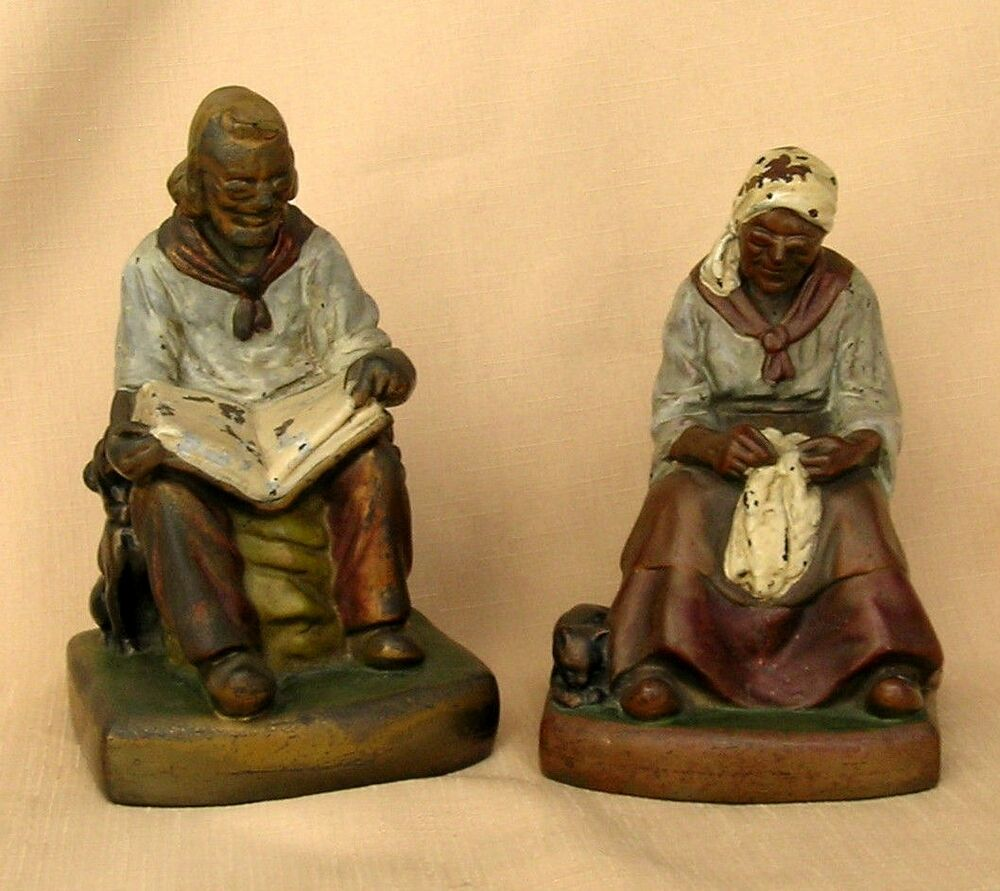 Armor bronze co new york joan and darby 1920 39 s bookends ebay - Armor bronze bookends ...