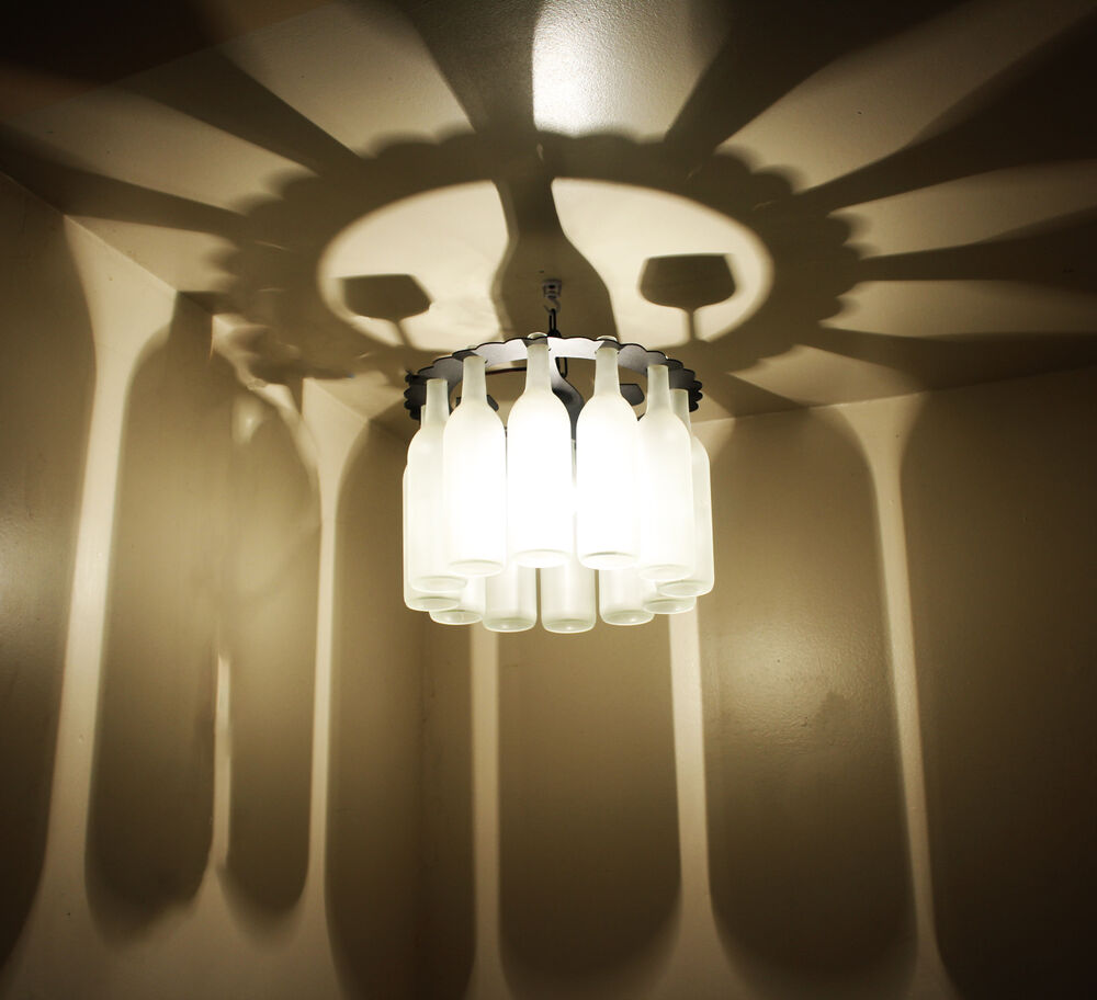 Unique Wine Bottle Shadow Chandelier Light Made in the USA ...