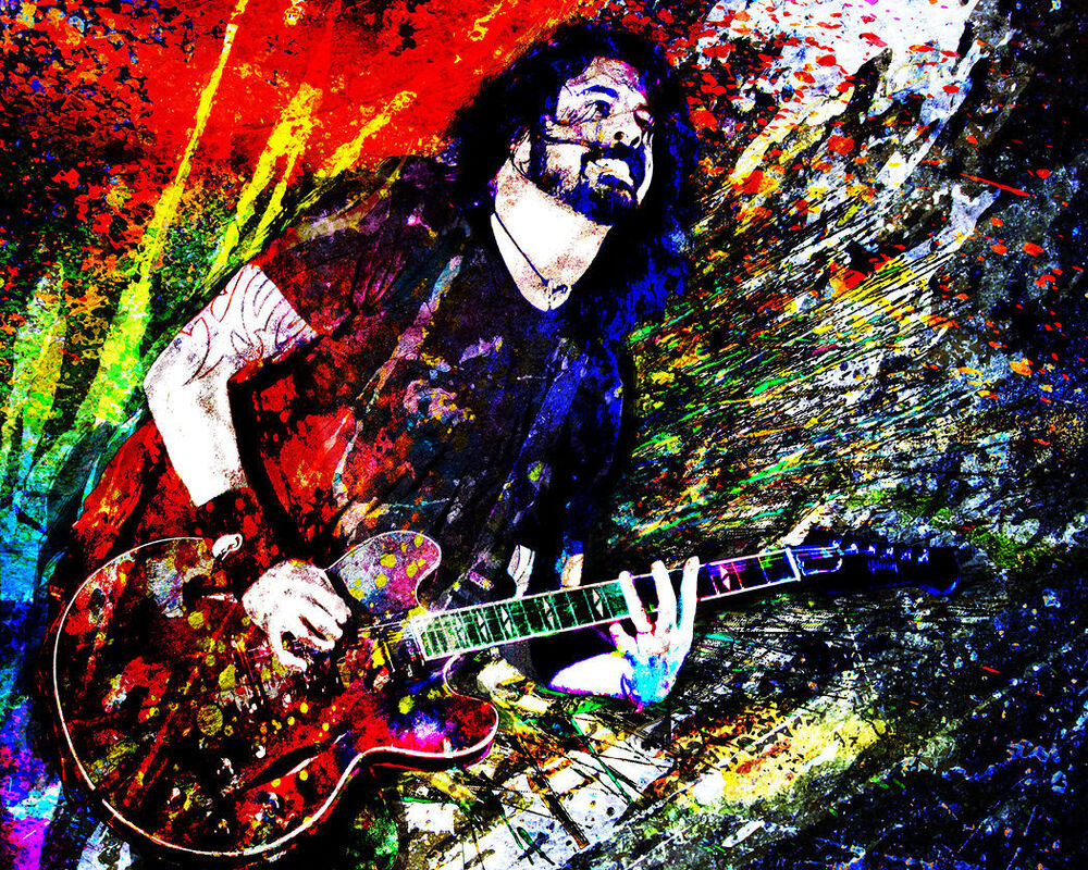 Dave Grohl Art Print Foo Fighters Canvas Foo Fighters