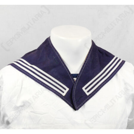 img-Original BUNDESMARINE SAILORS SCARF - German Navy Blue Naval Uniform Neckerchief