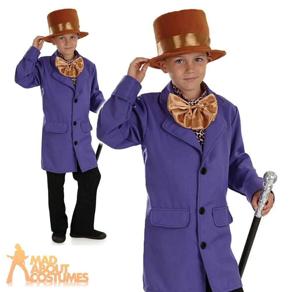 Child Willy Wonka Costume Boys Chocolate Factory Fancy ...