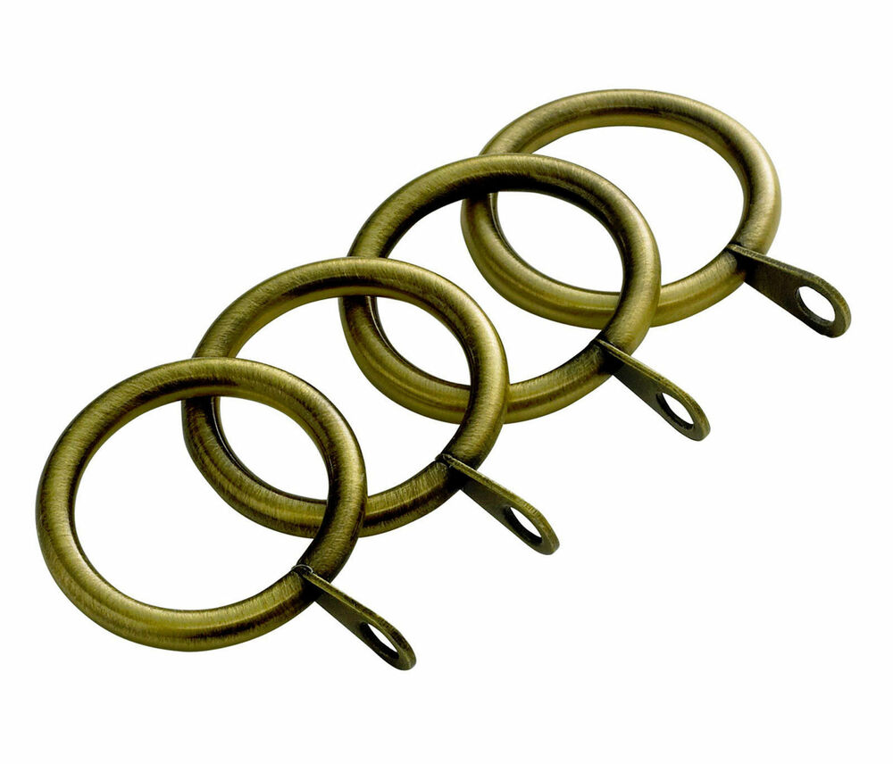 Metal Curtain Rings Antique Brass