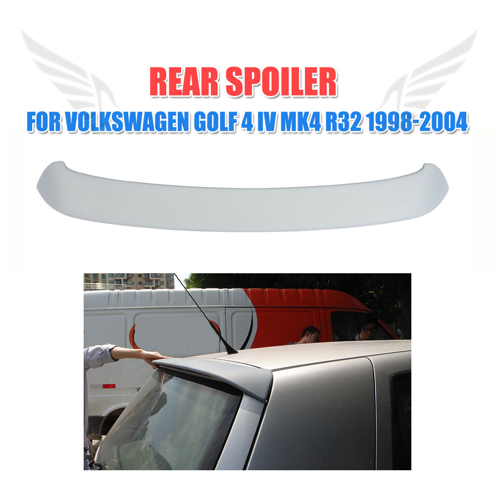 r32 type rear roof spoiler wing lip fit for vw golf 4 iv. Black Bedroom Furniture Sets. Home Design Ideas