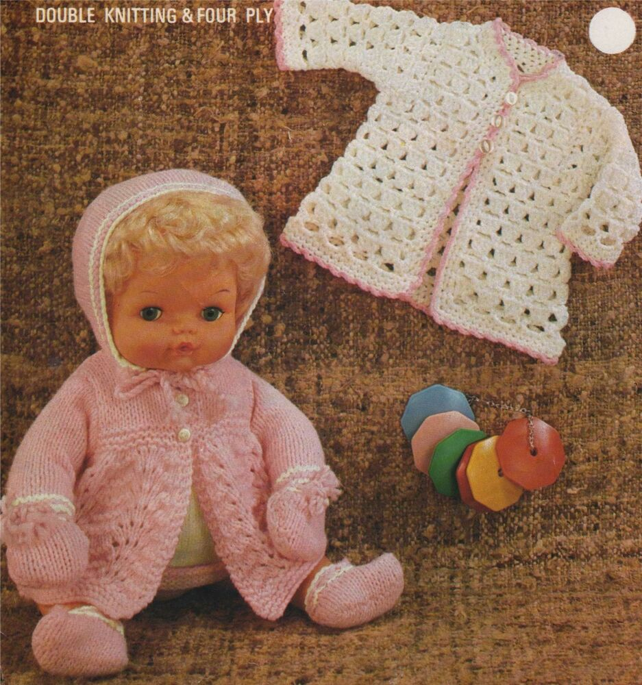 Knitting Crocheting : Dolls clothes knitting crochet pattern inch doll