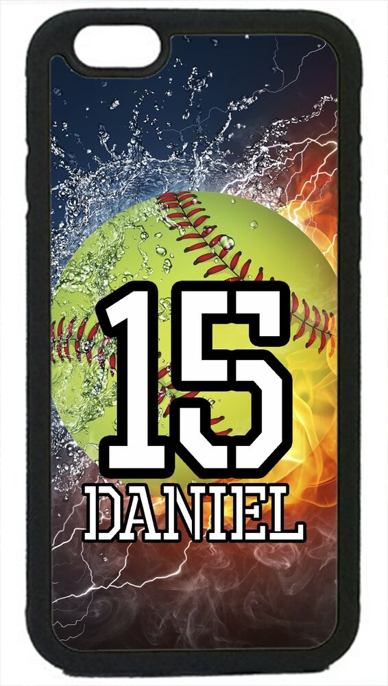 personalized iphone cases personalized number and name softball for iphone 4 4s 12769