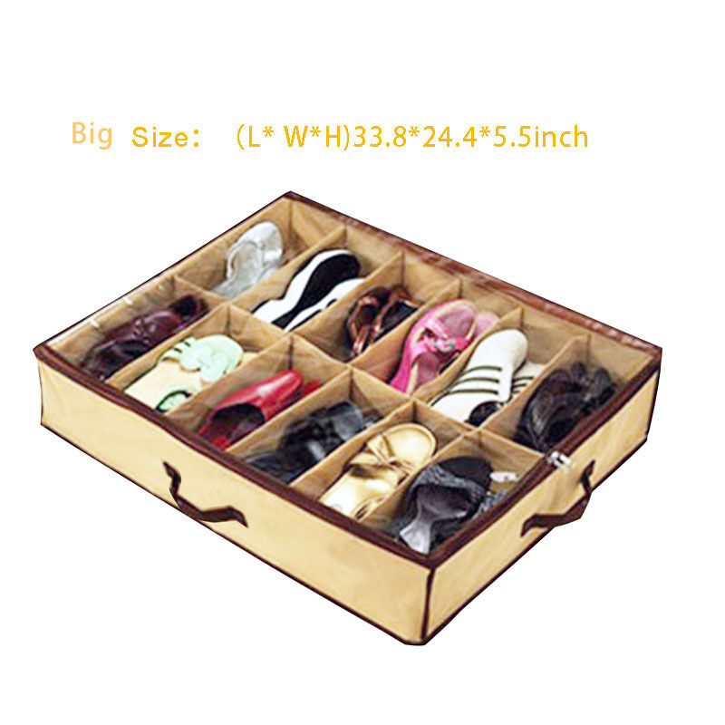 shoe organizer holder box with 12 cells bed
