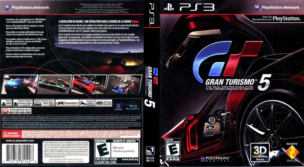 gran turismo 5 sony playstation 3 2010 711719811428 ebay. Black Bedroom Furniture Sets. Home Design Ideas