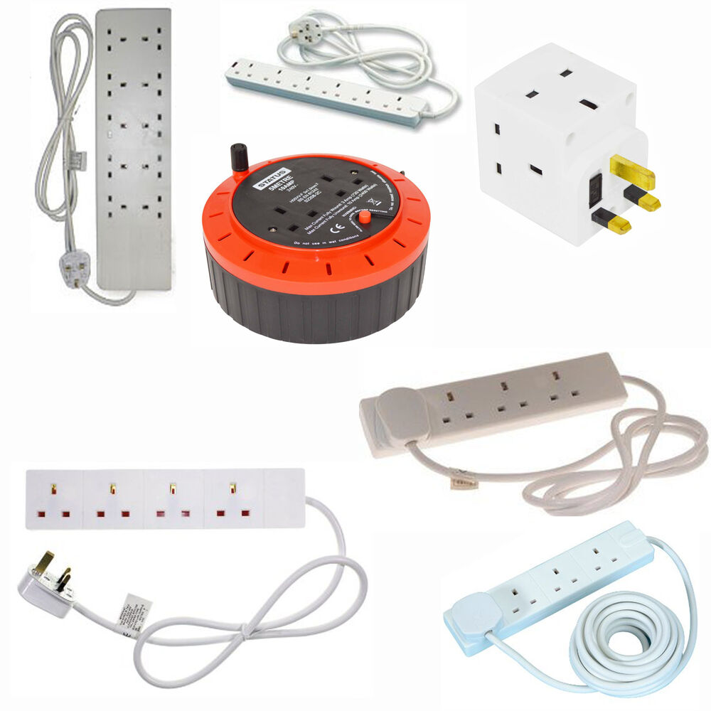 Mains Extension Leads : Gang way uk extension lead cable socket ce marked