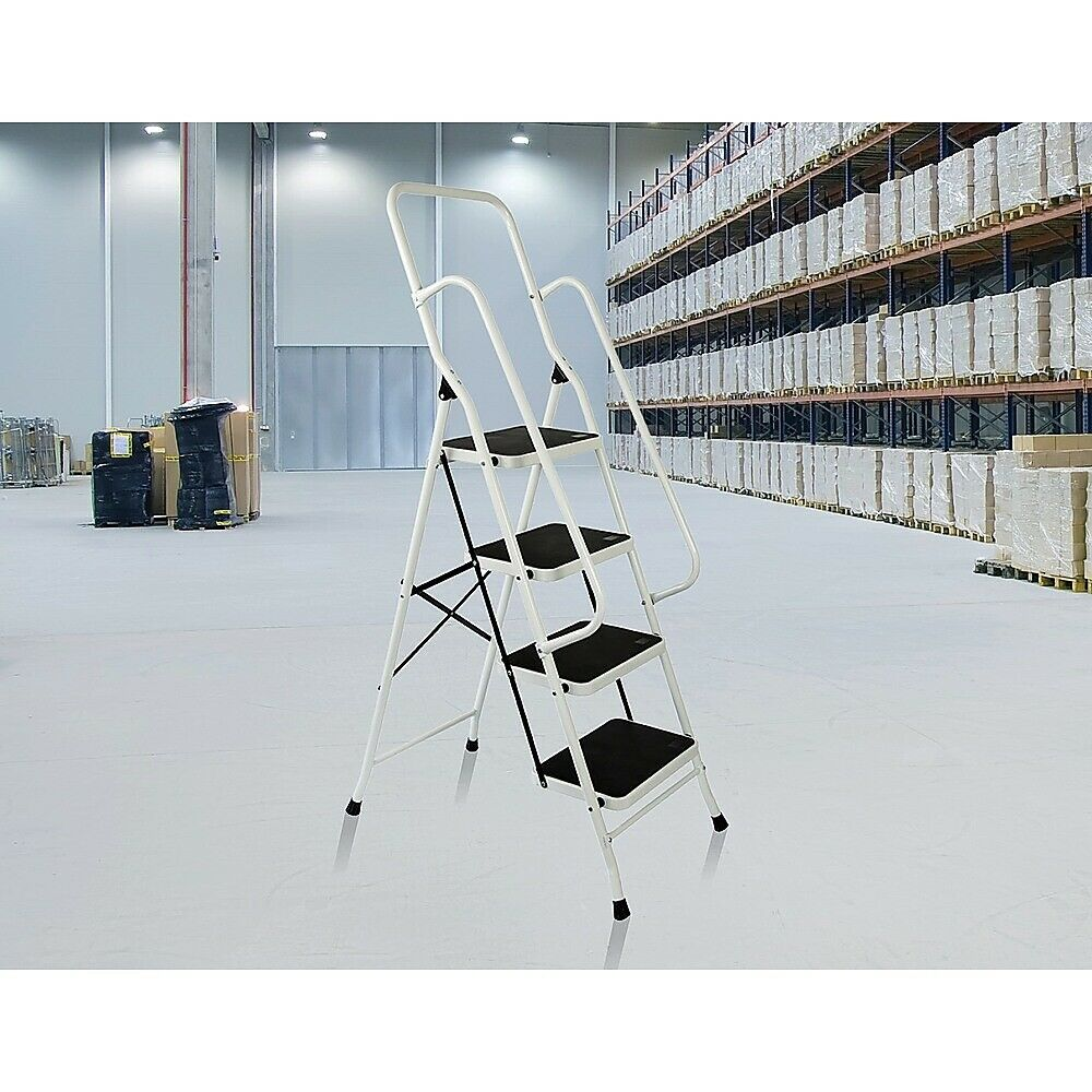 Foldable Non Slip 4 Step Steel Ladder Tread Stepladder
