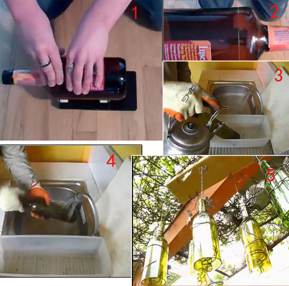 Agptek new glass wine beer bottle cutter machine cutting for How to cut a beer bottle at home