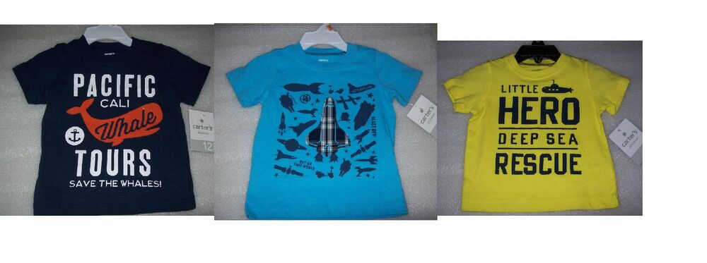 83157bf29 Details about BOYS BABY TODDLER CARTERS GRAPHIC T SHIRTS MULTIPLE PRINTS AND  SIZES NEW W T
