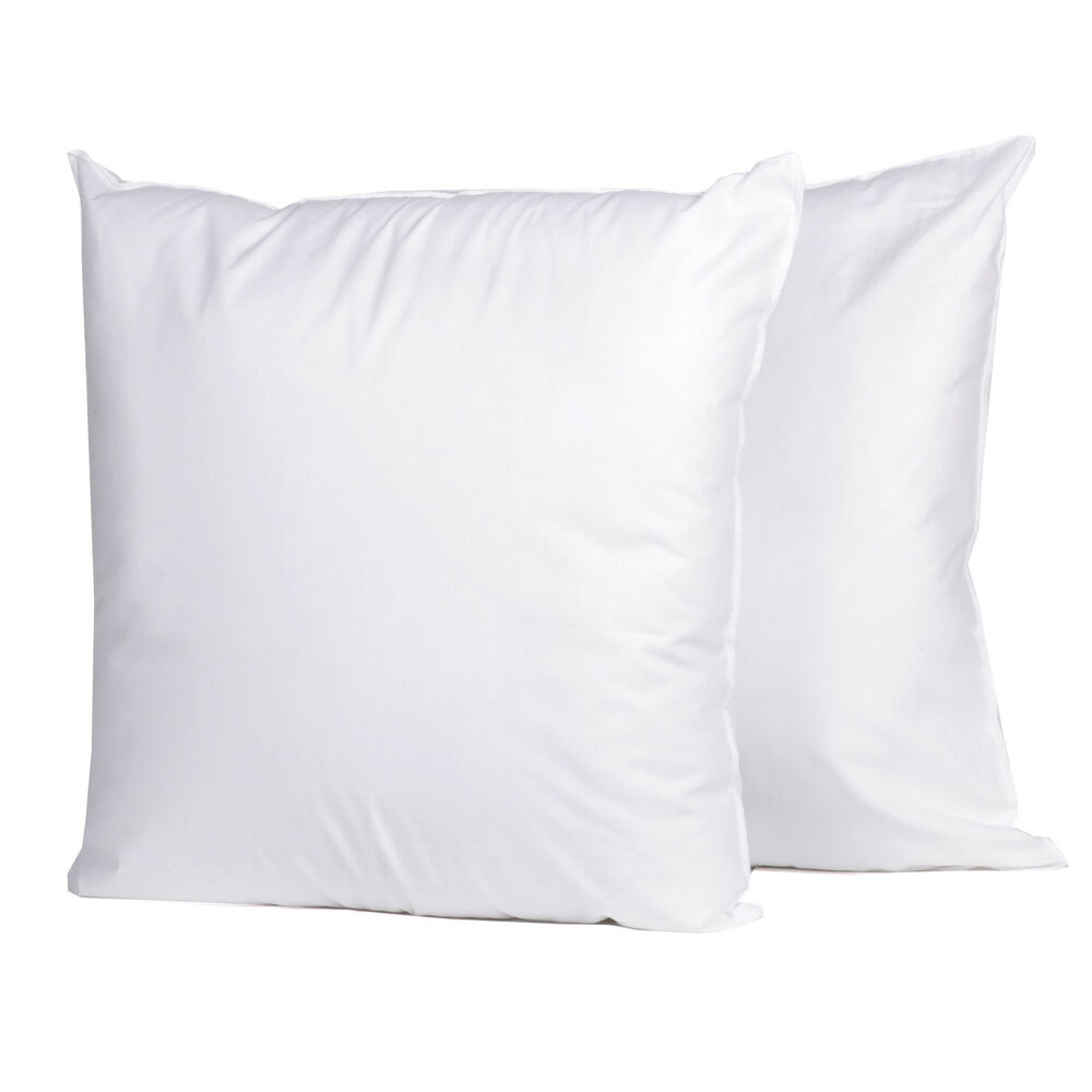 Down alternative polyester 20quot x 20quot square euro pillow for Best euro pillow inserts