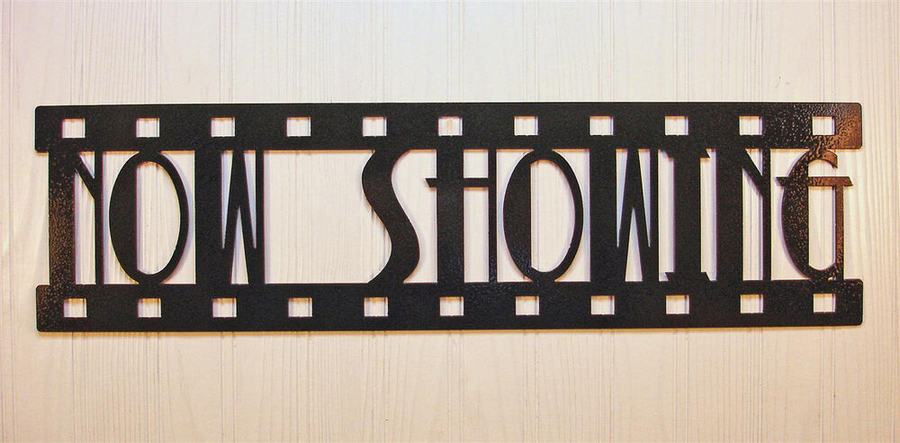 now showing new metal wall art home theater decor