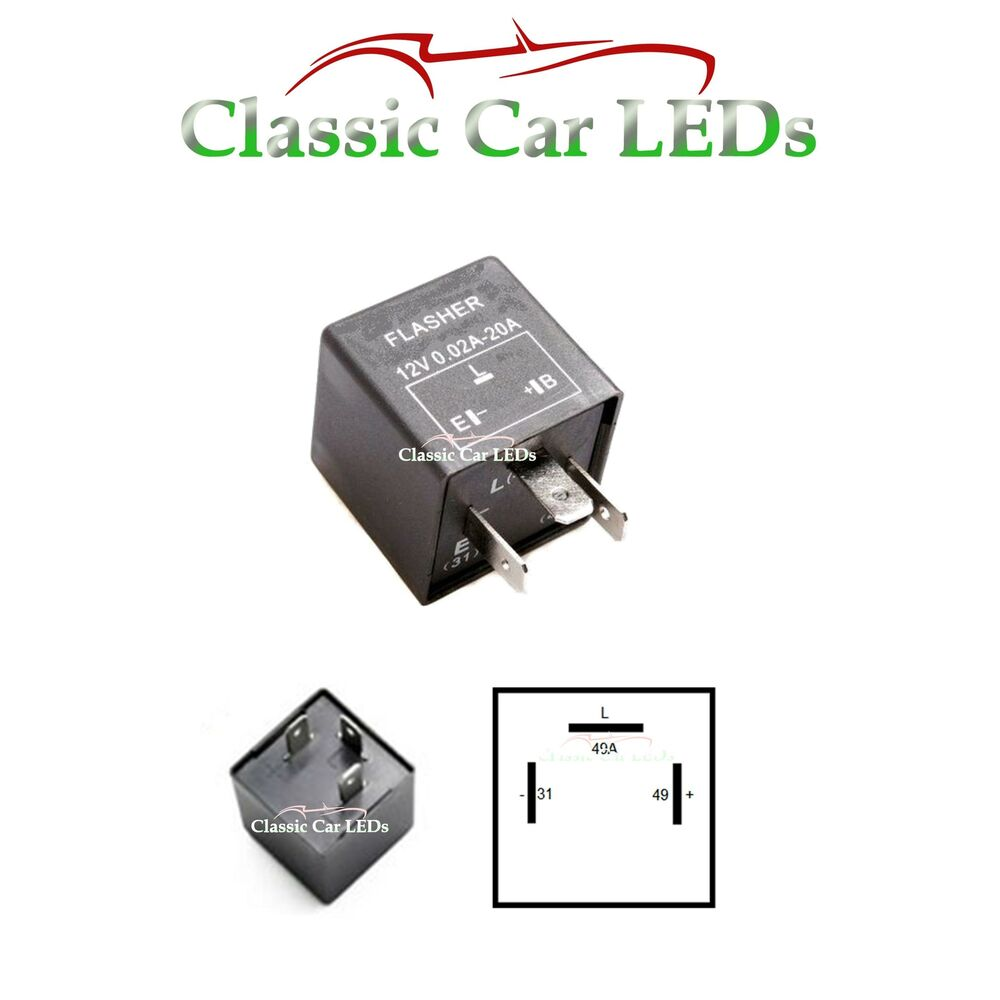 12v Electronic Indicator Flasher Relay For Classic Cars With Oe Fuse Box In Car Clicks Clicking Sound Ebay