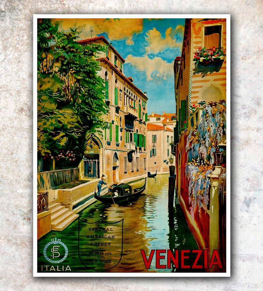 italy venice art travel poster italian wall decor print 11x14 a150 ebay. Black Bedroom Furniture Sets. Home Design Ideas