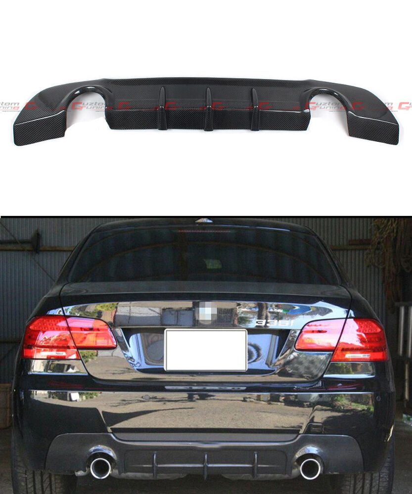 Bmw Performance Exhaust 335i: DUAL EXHAUST CARBON FIBER REAR DIFFUSER FOR 2007-13 BMW
