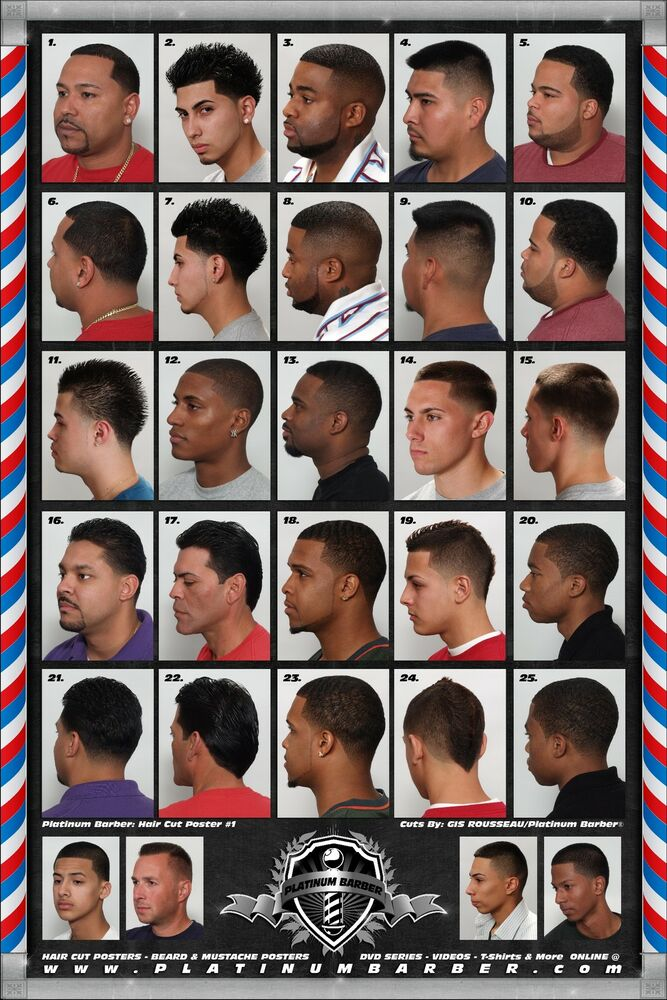 The Barber Hairstyle Guide Poster For Black Men ...