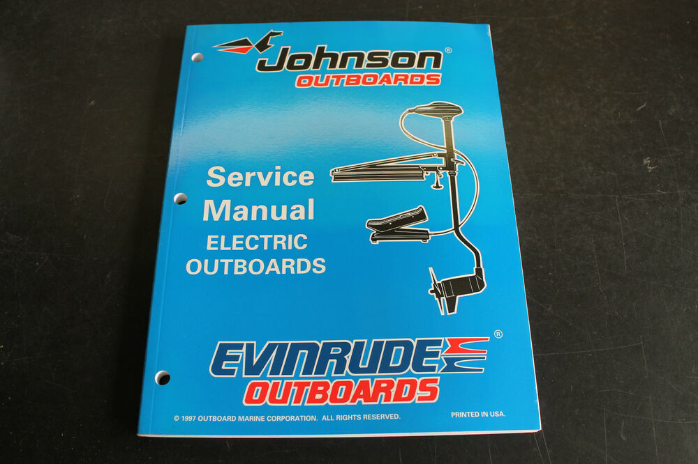 johnson evinrude electric trolling motor service manual
