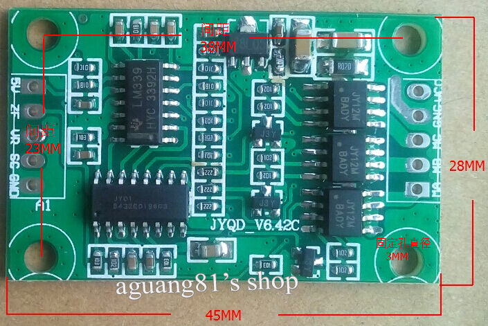 Micro 3a 12v Dc Brushless Motor Controller Driver Board