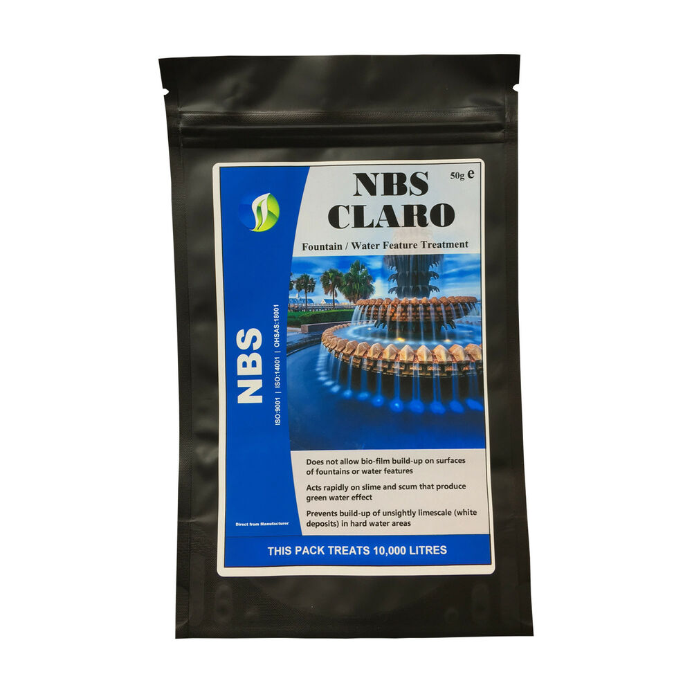 Nbs Claro Indoor Outdoor Water Feature Cleaner Treatment 1 Pack Clean Fountain Ebay