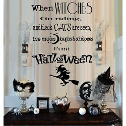 When Witches Go Riding - Halloween, Words & Phrases, Wall Decal