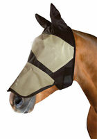 Full Face Fly Mask/Hood/Veil with Ears & Nose Protection - Pony/Cob/Full
