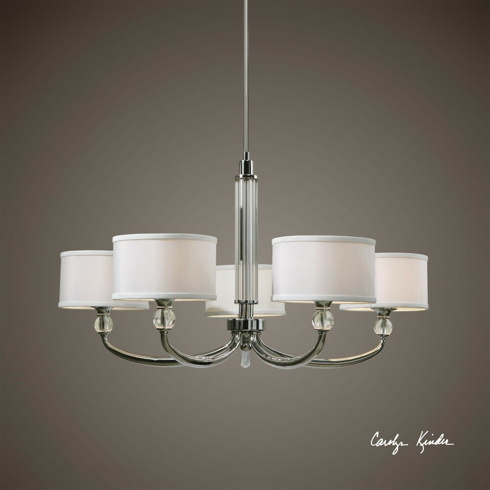 Ceiling Lights B And M : Large plated chrome crystal chandelier holds lights