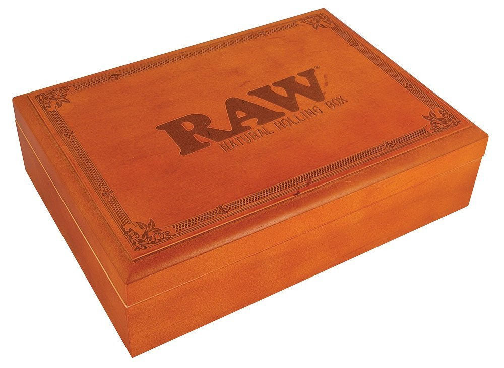 Large Raw Rolling Stash Box W Tray Stores Grinder Tobacco
