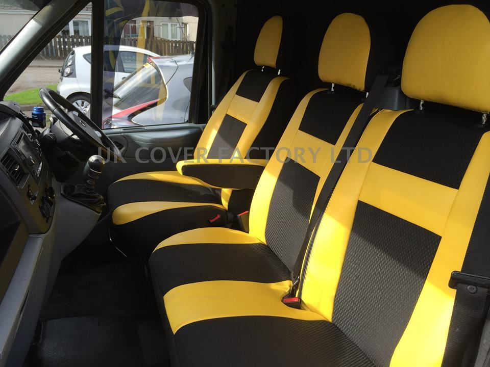 VW TRANSPORTER T5 VAN SEAT COVER YELLOW SPORT X52Y