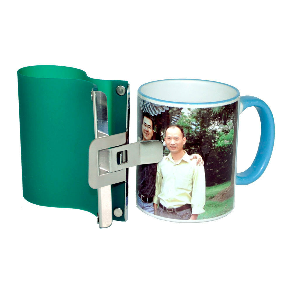 3d sublimation silicone metal mug wrap 11oz cup clamp fixture for printing mugs ebay. Black Bedroom Furniture Sets. Home Design Ideas