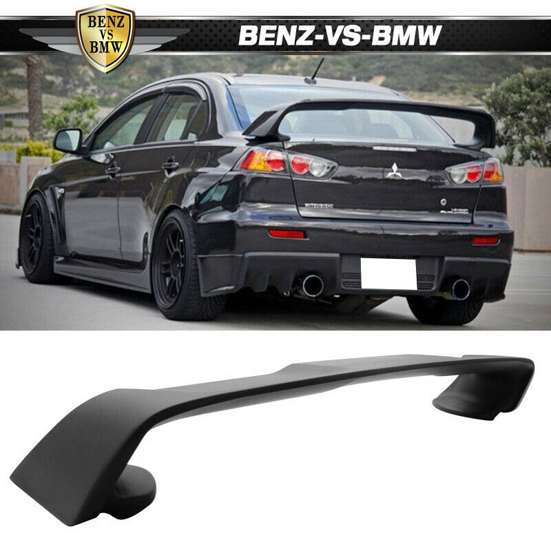 08 17 Mitsubishi Lancer Evo 10 Abs Rear Trunk Spoiler Wing