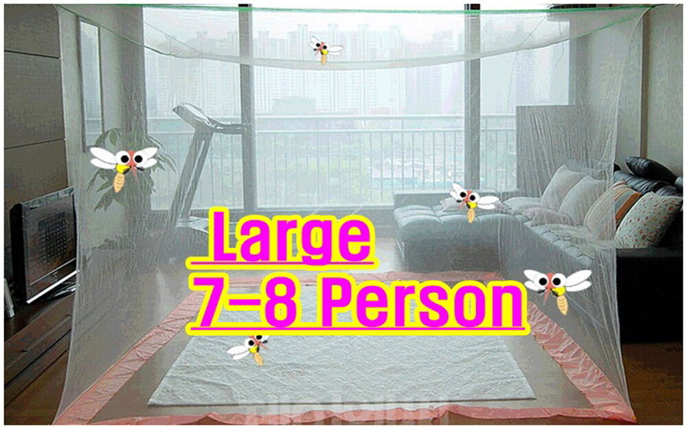 Large Portable Insect Mosquito Fly Bug Net Screen Bed ...