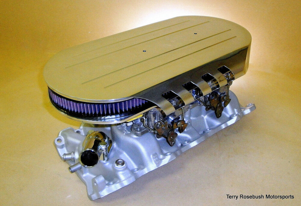 Custom Low Profile Air Cleaner : Trm custom fabricated air cleaner assembly show polished