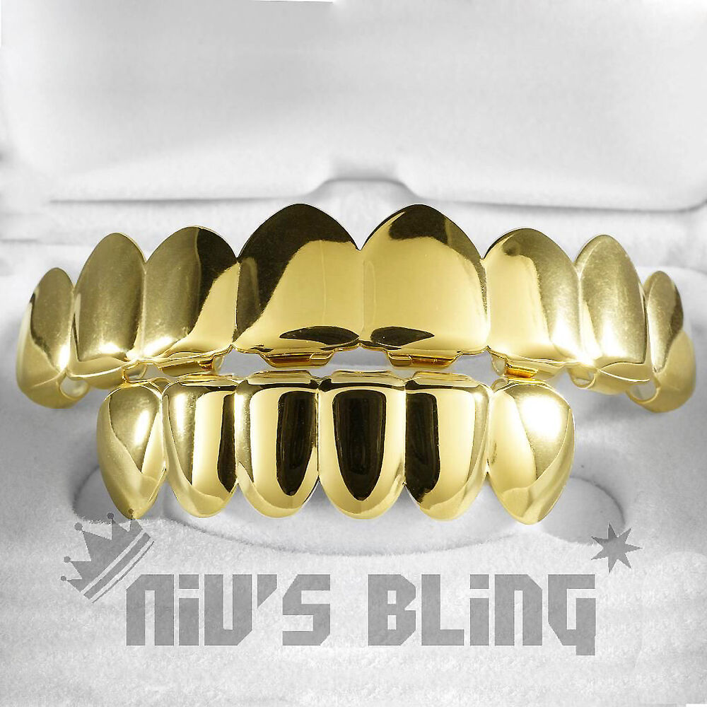 18k Gold Plated Stainless Steel Grillz 8 Tooth Top