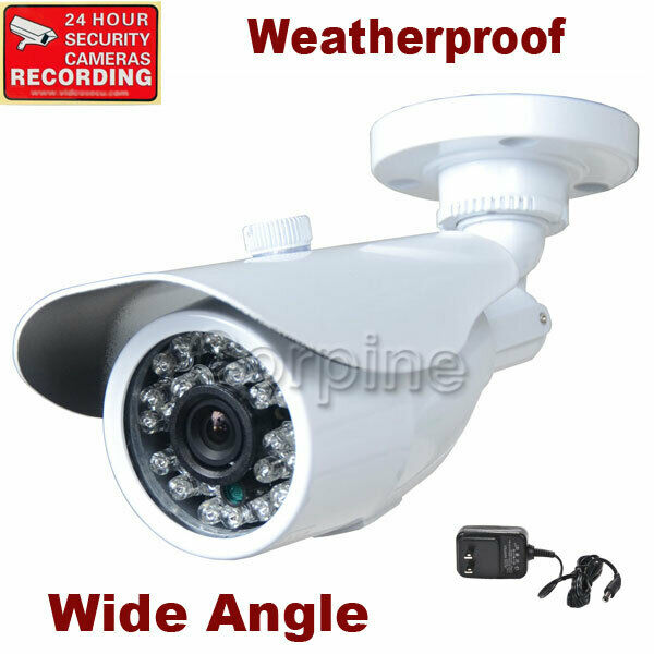 Security Camera Wide Angle Len 3.6mm Color CCD Outdoor IR ...