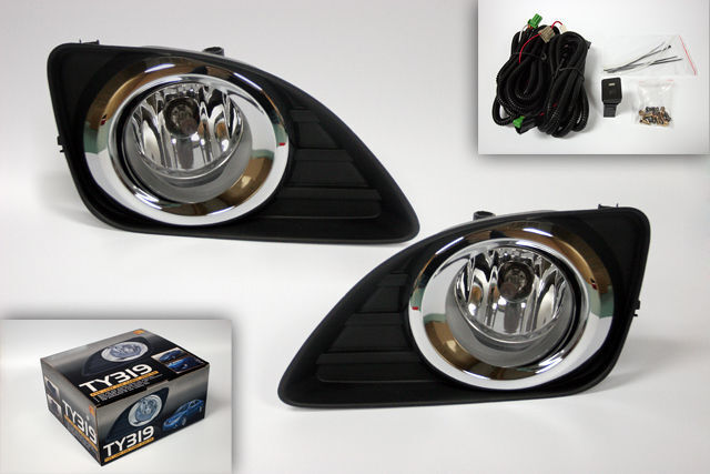 fog lights and bezels set for 2010 2011 toyota camry ebay. Black Bedroom Furniture Sets. Home Design Ideas