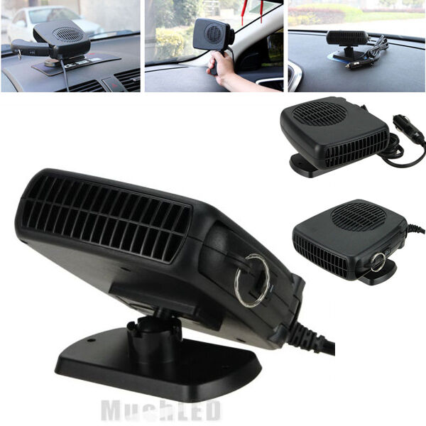 2 In 1 Car Portable Ceramic Heating Cooling Heater Fan