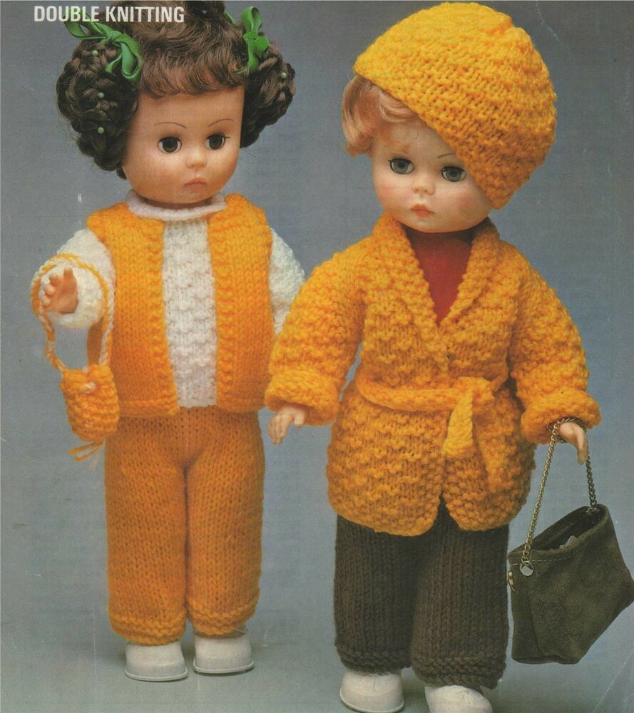 Dolls Clothes Knitting Pattern : 14 inch doll : Palitoy ...