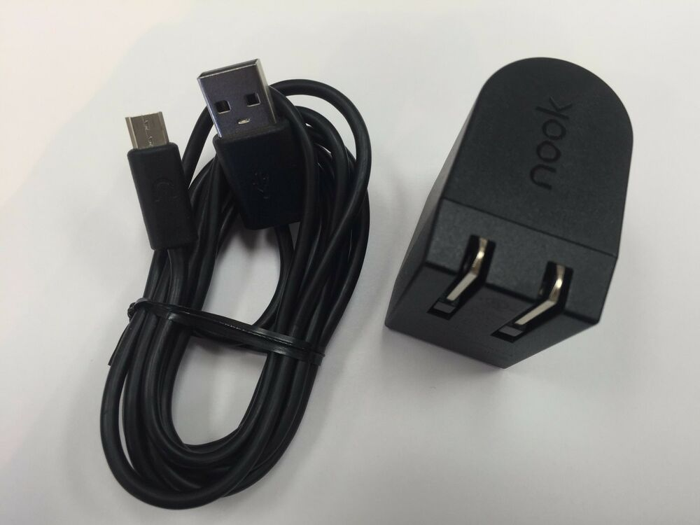 Genuine Nook Color Charger And Usb Sync Cable Bnrv200