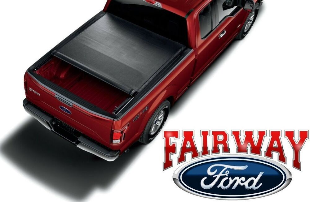 15 thru 17 ford f150 oem platinum style soft roll-up tonneau bed