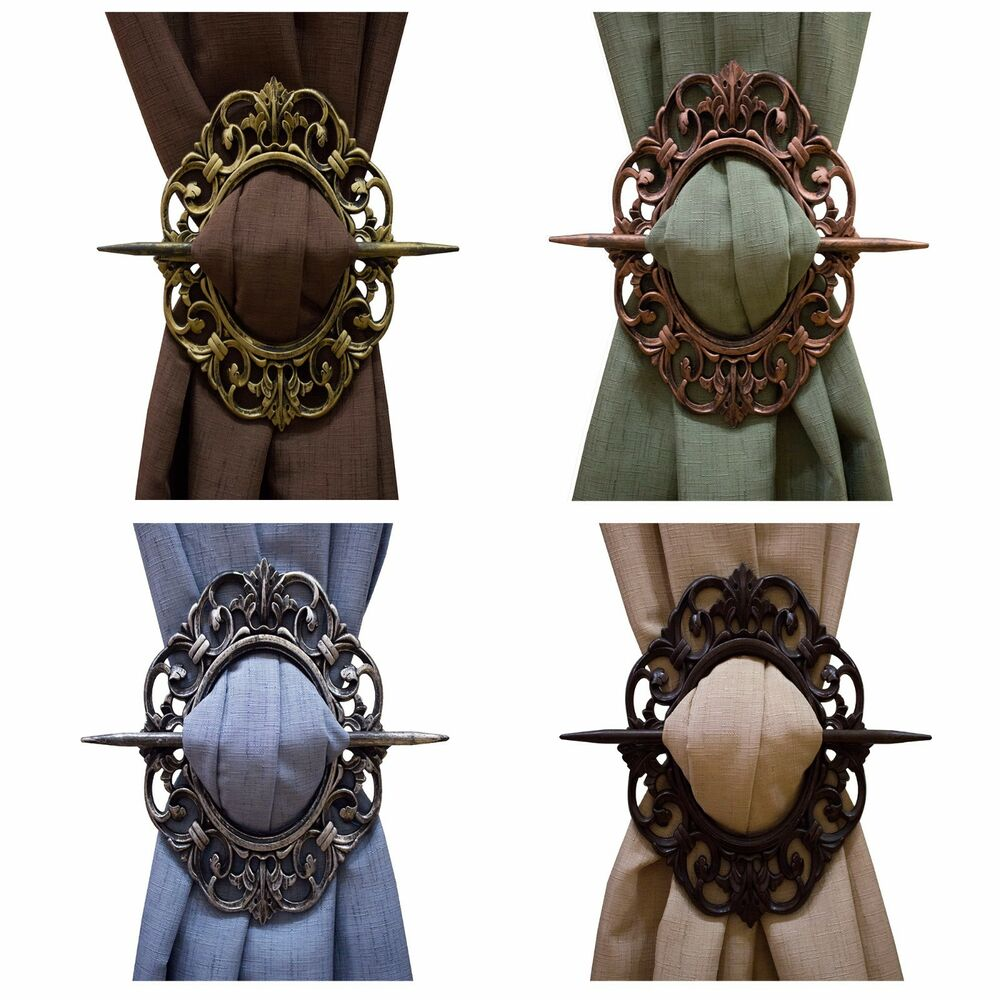 Decorative Curtain Holdbacks Trendy Tiebacks Oval Antique Bronze ...