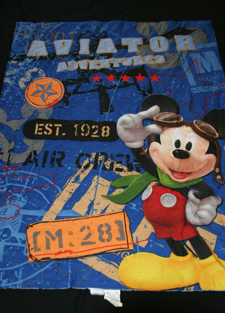 Disney Mickey Aviator Toddler Comforter Amp Sheet Set 4 Pc